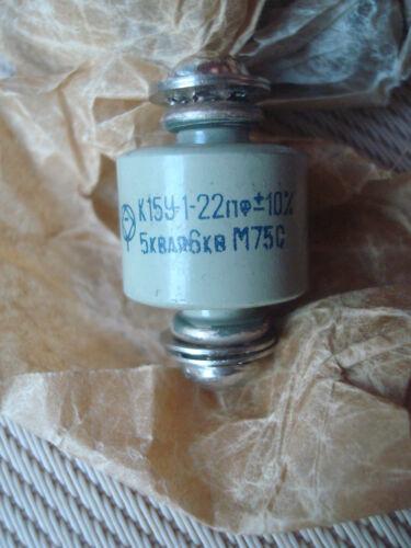 2pcs 6kV 22pF 5kVAR High Voltage Ceramic Doorknob Capacitor Silver K15Y-1