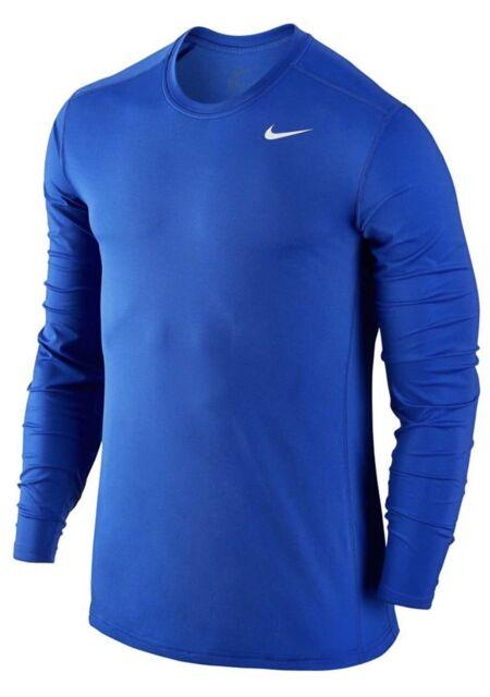 20b08e44 Mens NIKE Pro Dri Fit Fitted Short Sleeve T Shirt Royal Blue Size Medium