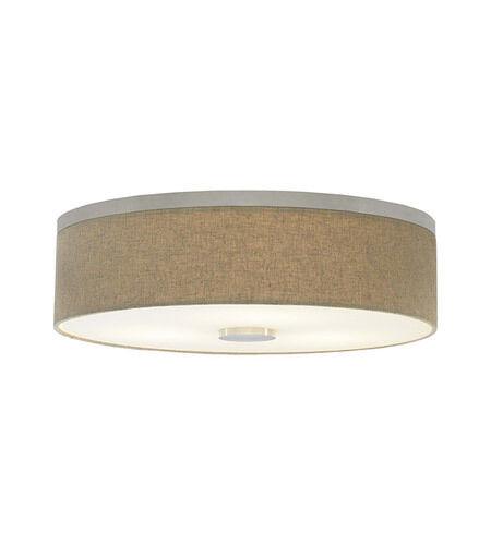 lbl lighting fiona 3 light flush mount in satin nickel