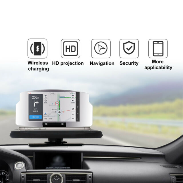 H6 Car Auto GPS HUD Head Up Display Smart Phone Mount Holder Stand Projector UK
