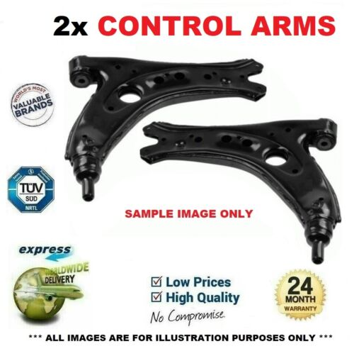 2x Front CONTROL ARMS for RENAULT CLIO 1.2 16V Hi-Flex 2008-on