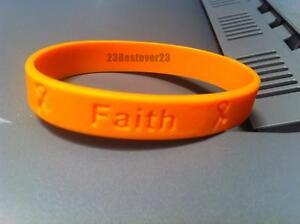 Image Is Loading 100 Orange Ms Multiple Sclerosis Awareness Silicone Bracelets