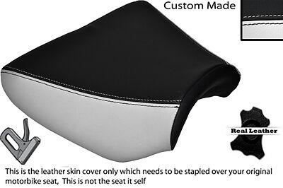 BLACK /& WHITE CUSTOM FITS APRILIA 125 AF 1 90-93 FUTURA FRONT LEATHER SEAT COVER