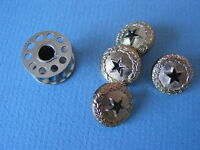 1159 Buttons Nautical Military Star Gold Navy 5/8 W 36