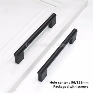bar black 96mm 128mm kitchen cabinet door handles cupboard furniture