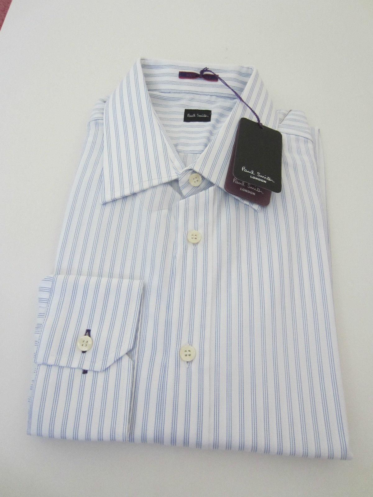 Paul Smith LONDON LS Shirt bluee stripes - Size 16.5   42  - p2p 22.5  -