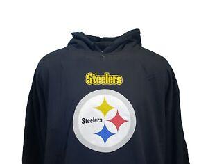 9213bb7a1b6 Image is loading Pittsburgh-Steelers-NFL-Majestic-Fleece-Line-Hoodie-Black-