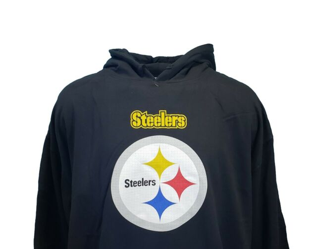 new styles 6e87d c5ab1 Pittsburgh Steelers NFL Majestic Fleece Line Hoodie Black, Big & Tall,  Mens, nwt