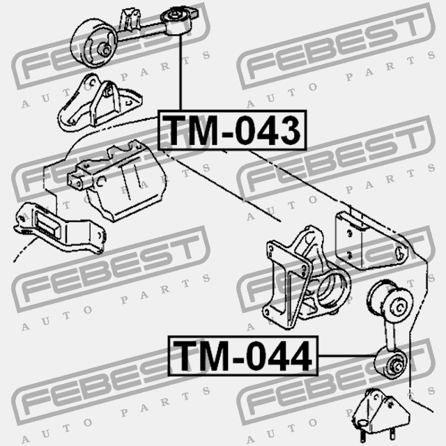 Tm 043 Febest Right Engine Mount For Daihatsu 12363 28061 For Sale