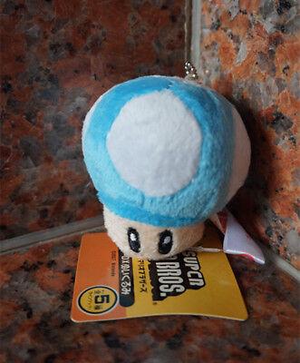 the lovely blue little mushrooms Plush Doll 6.5cm