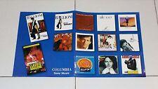 Manifesto Promo CLAUDIO BAGLIONI Discografia Columbia POSTER Affiche advertising