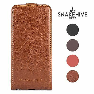 SNAKEHIVE® Premium Leather Flip Case Cover for Samsung Galaxy S5 / S5 Neo