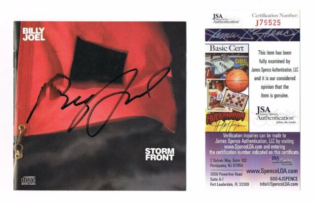 BILLY JOEL Storm Front SIGNED CD Album Cover & Full CD ~ JSA COA