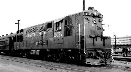 SP Southern Pacific #3022 Black /& White Print