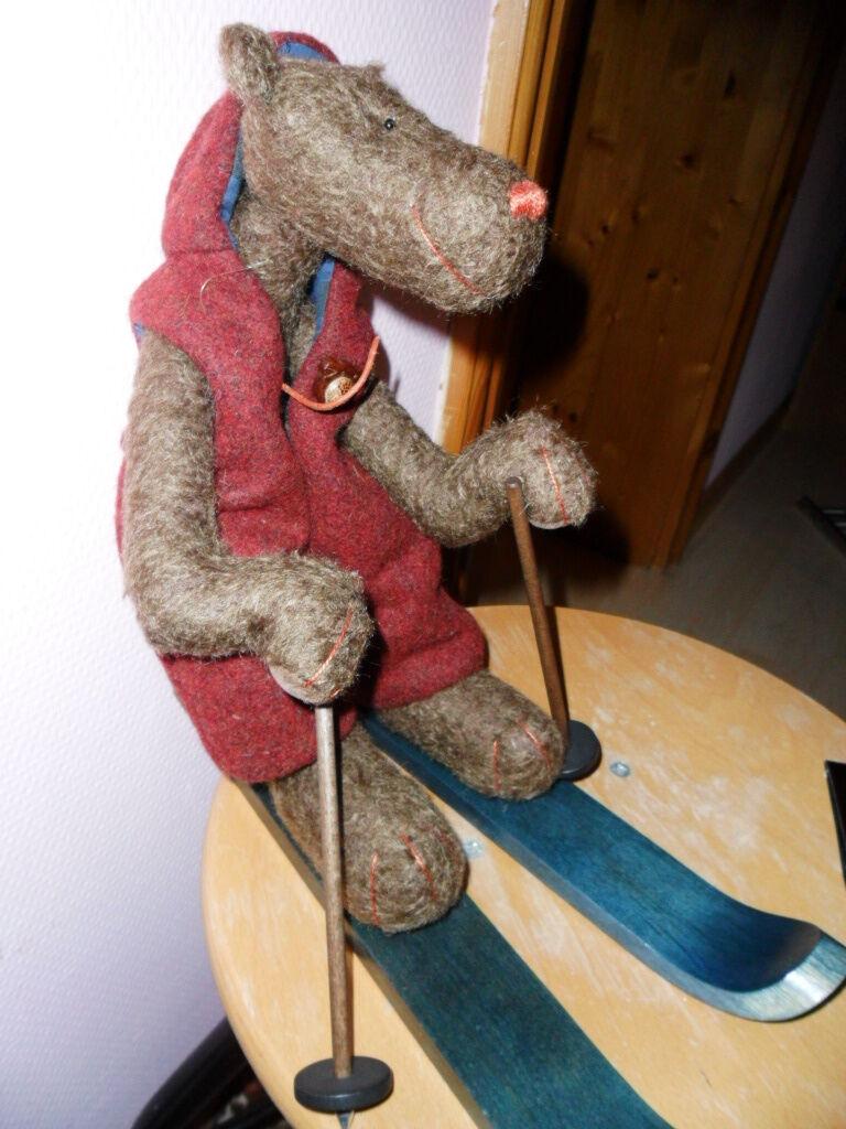 ARTISTA TEDDY ORSO BEAR sjamme della sciatore zwergnase n. marschollek-menzner