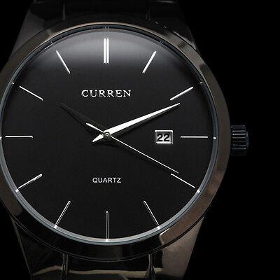 New CURREN Fashion Black Mens Date Analog Army Military HOURS Quartz Sport Watch