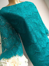 MONSOON EMERALD GREEN LACE SUMMER WEDDING COCKTAIL PARTY CRUISE TUNIC DRESS 20