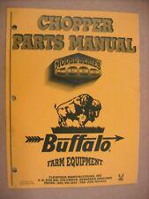 Buffalo Chopper Parts Manual For Model Series 5000 Man Chpts 1295
