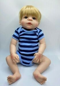 Silicone Body Boy Baby Doll No Cloth Shaded Anatomically Correct With Clothes Ebay