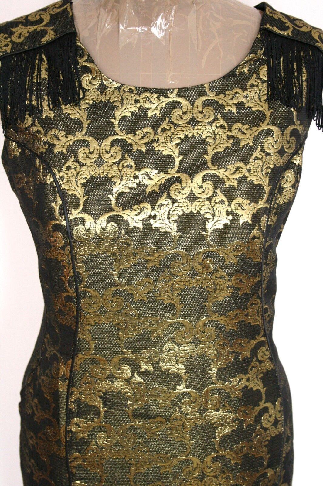 Next Petite BNWT gold Textured Bodycon Dress Sz 14