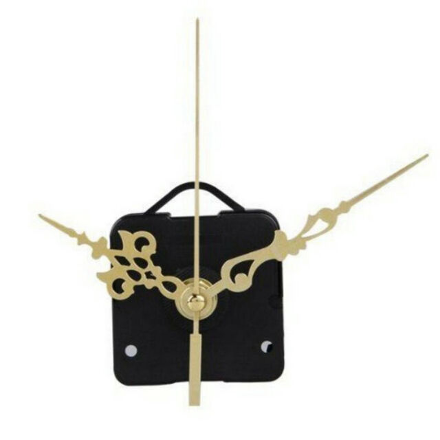 1set Quartz Clock Movement Mechanism Gold Hands Replace Repair Parts Kit