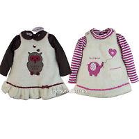 Baby Girls Winter Fleece Overall Dress With Long Sleeve Shirt Size 3 9 Months