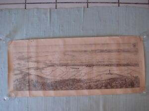 ANCIENNE-GRAVURE-SIGNE-E-SENES-CHAMPAGNE-BLASON-1914-1918-COQ-PLAN