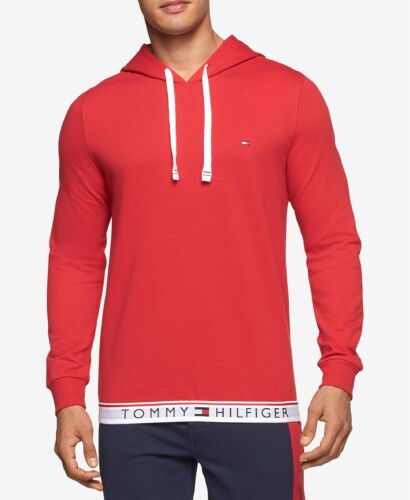 Mens Tommy Hilfiger Pullover Graphic Hoodie Pick Size Color Model NEW