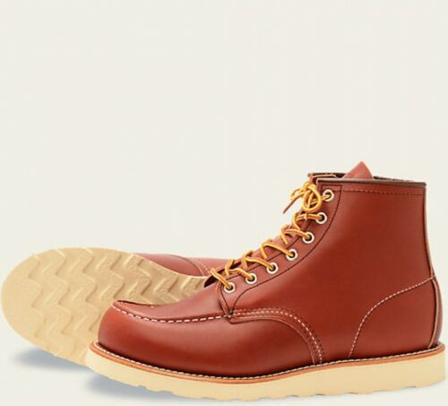Oro Mens Moc Brick Red Toe Wing Boots Russet Opera Heritage 8131 5Hwn8OSq