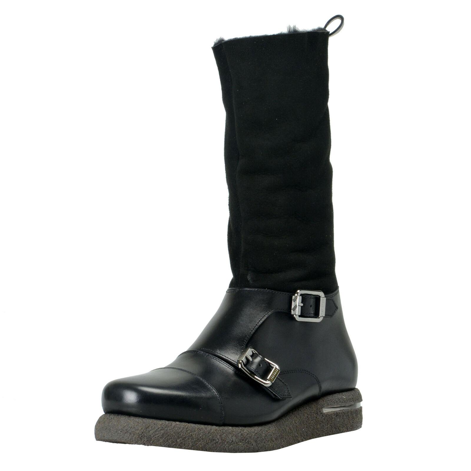 Versace Men's Suede Leather Real Fur Winter stivali scarpe Sz 9.5 10 10.5 11 13