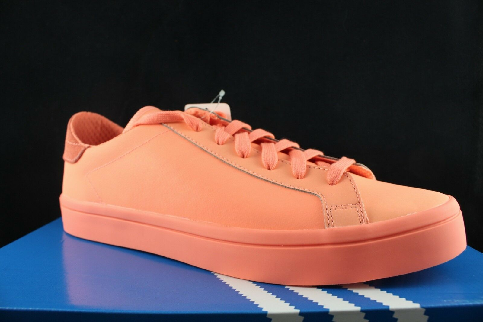 ADIDAS ORIGINALS COURTVANTAGE ADICOLOR SUN GLOW S80257 SZ 10.5