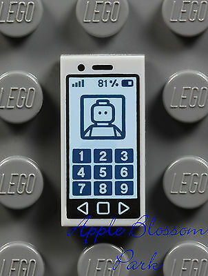 Friends Pink Cell Phone Radio LEGO Minifig iPod MUSIC PLAYER 1x2 PRINTED TILE