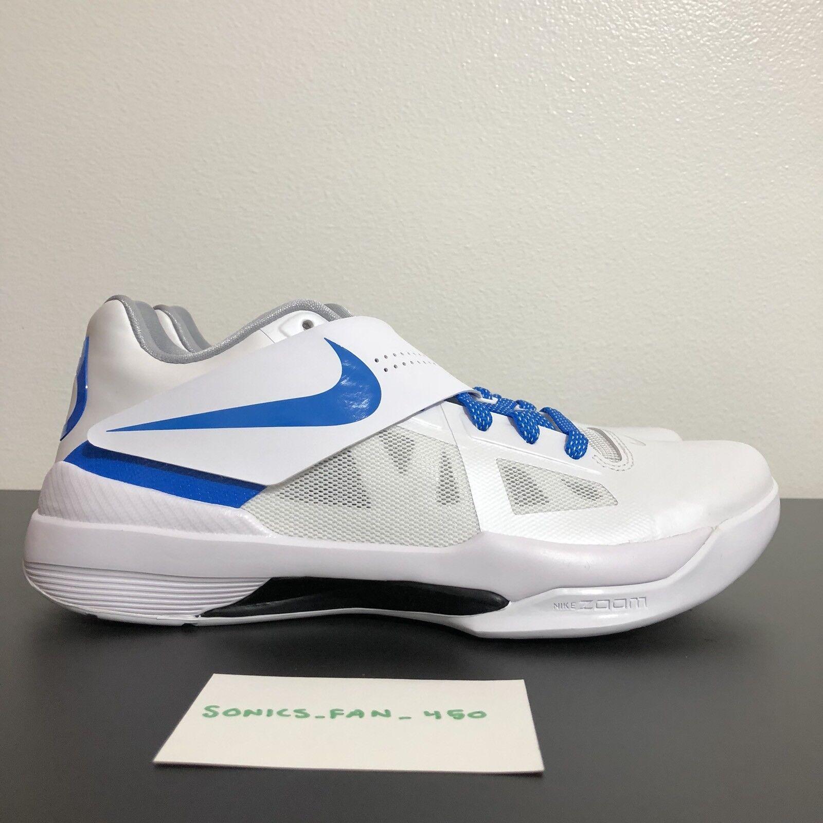 Nueva 2018 Nike KD IV 4 Thunderstruck CT16 arte de blanco campeón aq5103 100 azul blanco de c21058