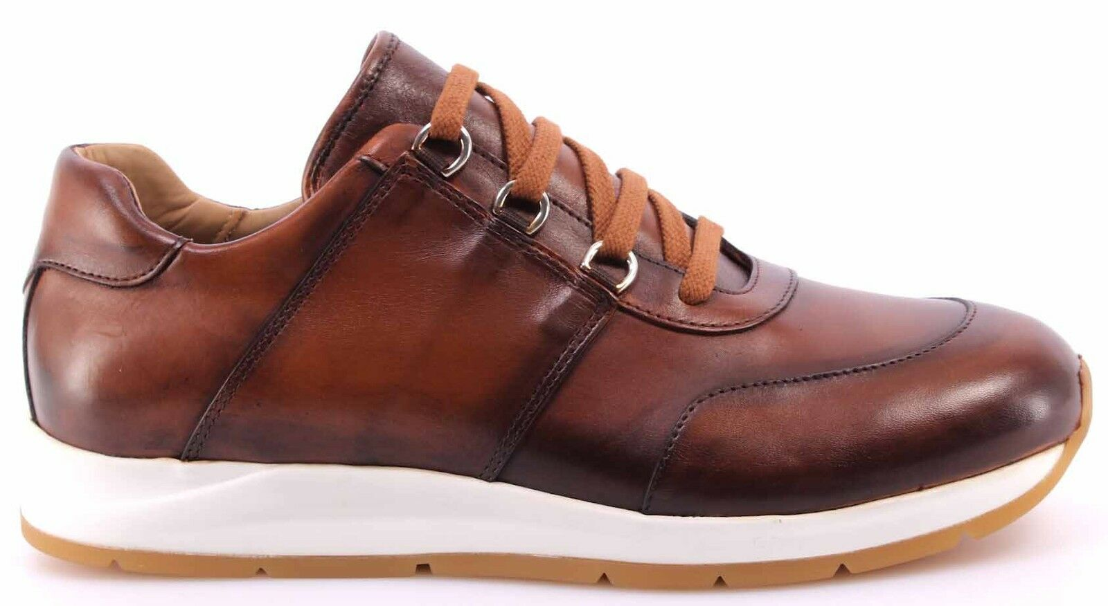 Scarpe Uomo Sneakers Antic ROBERTO BOTTICELLI Limited Vitello Antic Sneakers Cognac Experience db7154