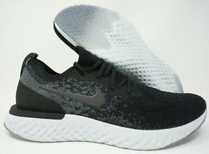 Nike-Epic-React-Flyknit-Mens-Running-Shoes-Black-Dark-Grey-Size-12
