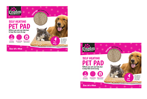 2 x Self Heating Thermal Cat Puppy Dog Mat Bed Animal Pet Warm Washable Rug 3818965083177