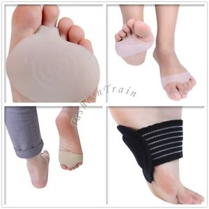Soft Silicone Gel Toe Forefoot Pad Metatarsal Foot Shoe Cushions Pain Relief