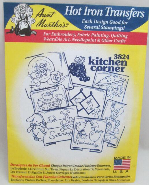 aunt marthas kitchen corner days of the week hot iron transfers 3824 - Marthas Kitchen