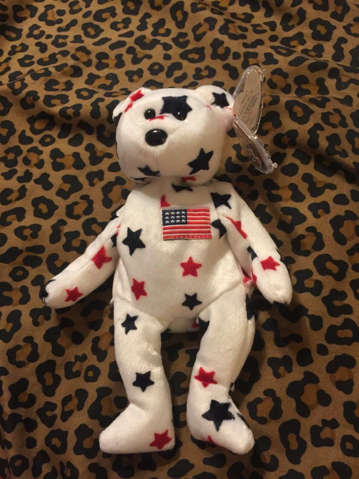 Retired TY Beanie Baby  GLORY  The Bear - 1997 with ERRORS (NEW)