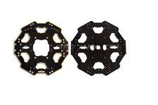 F07283 Tarot Carbon Fiber Folded Six-axis Center Plate TL68P01 Black for Tarot