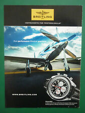3/2010 PUB MONTRE BREITLING WATCHES CHRONO-MATIC RENO RACE P-51 MUSTANG AD