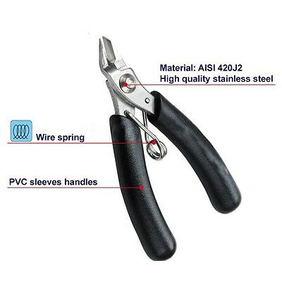 Electrical Micro Cutting Plier Wire Cable Cutter Side Snips Flush Pliers Tools