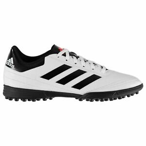 Adidas-Goletto-AG-Artificiel-herbe-Baskets-Homme-Blanc-Rouge-Football-Soccer-Shoes
