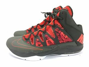 NIKE AIR MAX STUTTER STEP BASKETBALL SHOES 599565 016 OLIVE ORANGE SZ 13 NWOB