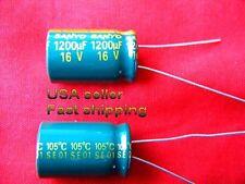 12 Pcs 1200uf 16v 105c Low Esr Electrolytic Capacitors