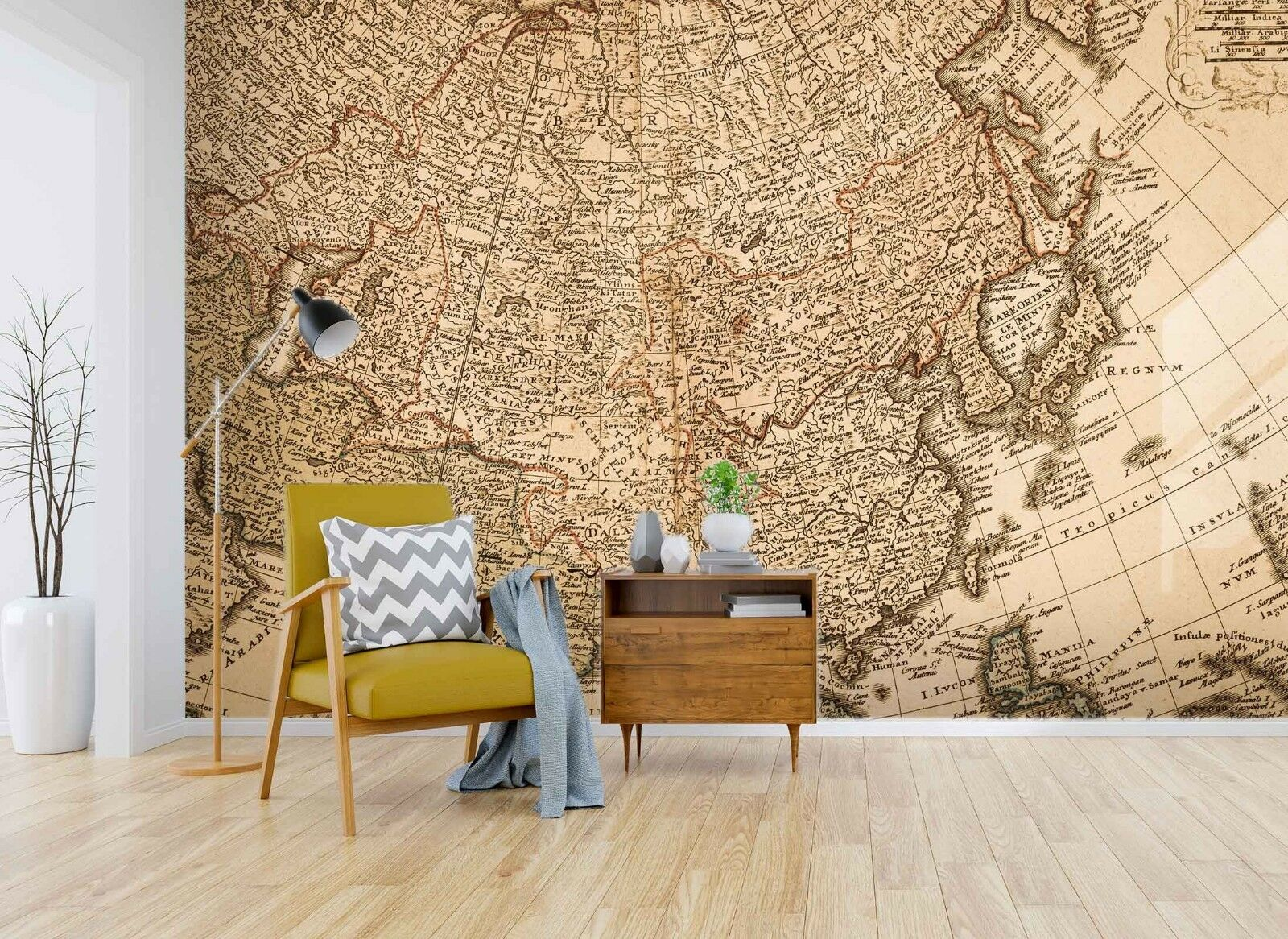3D braun Map 883 Wallpaper Mural Paper Wall Print Indoor Murals CA Summer