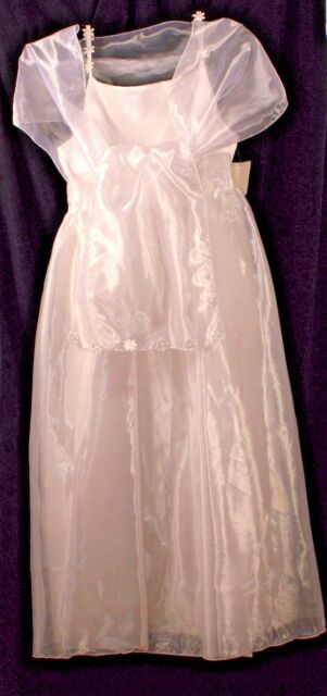 Girls Jinelle Formal Dress With Floral Details Plus Shawl Wedding Communion NWT