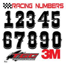 Racing Numbers Vinyl Decals Stickers Boat Car Bmx Bike Off Road Sprint Quad Rio