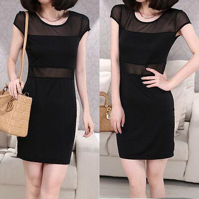 Sexy Womens Casual Summer Wedding Party Evening Cocktail Bodycon Slim Mini Dress