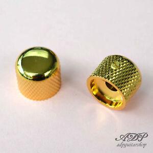2x-Boutons-Metal-Gotoh-ShortDome-Knobs-19x16mm-6mmSplitShaft-Pots-MK-3150-Gold